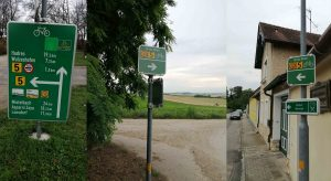 Brno-Vienna Cycle Path Marked By Signposts Along The Entire Route