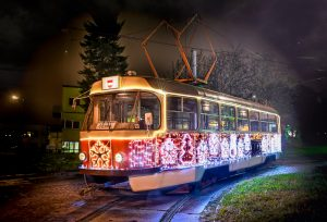 Iconic Christmas Tram Returns to Brno
