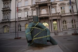 """In Brief: Million Moments For Democracy Tape The Czech Republic With """"Confiscated by Anofert"""""""