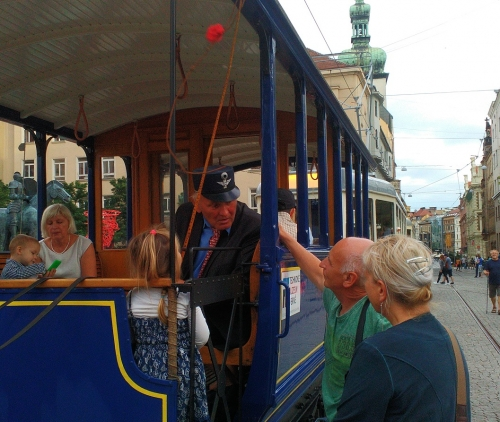 Historical tram stop at Moravske namesti - MS