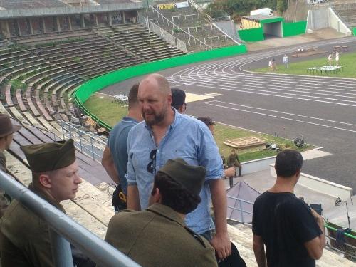 Emil Zátopek Movie Shooting in Lužánky (2)
